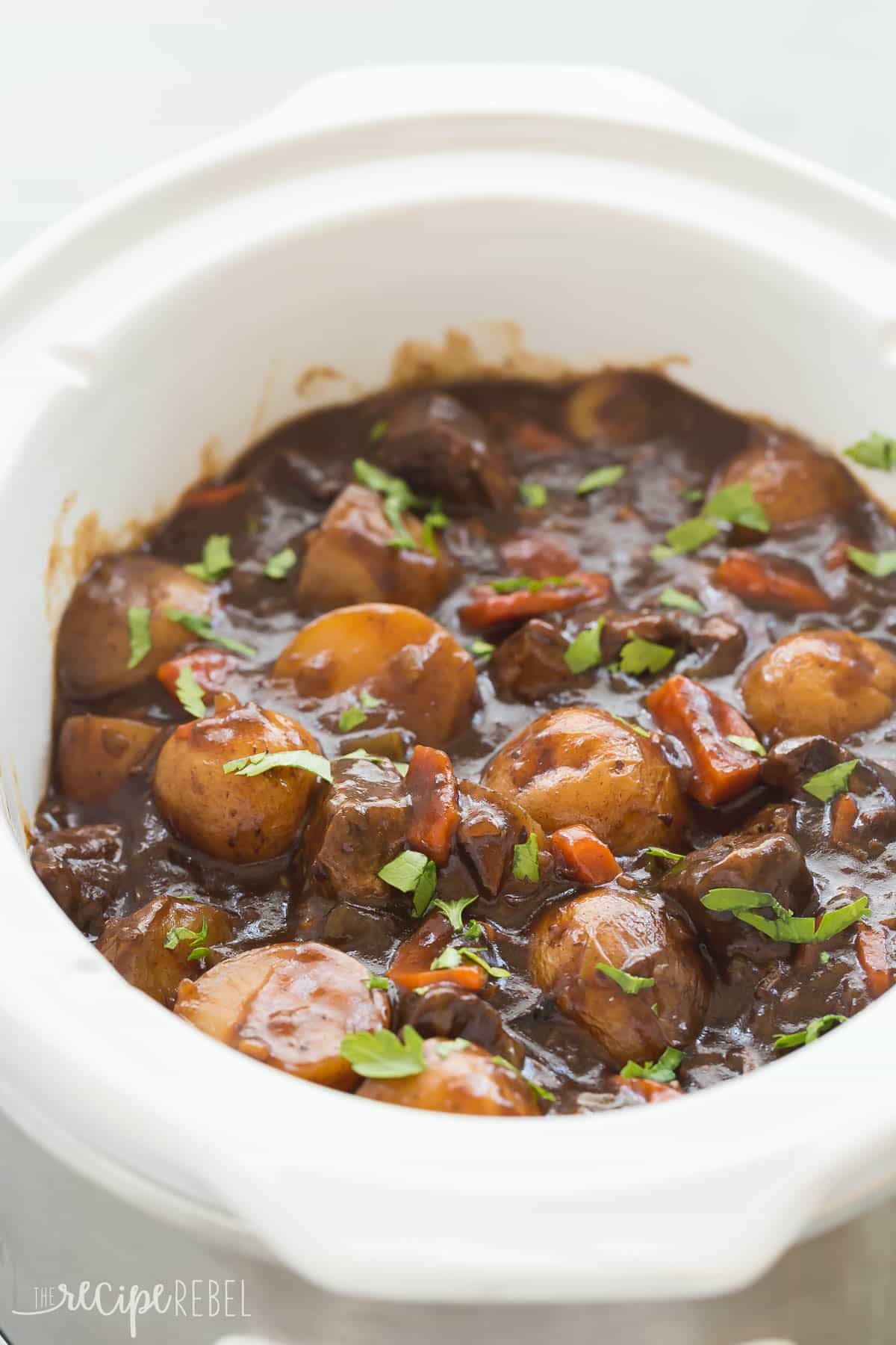 Hamburg Stew Recipe  Honey Balsamic Slow Cooker Beef Stew VIDEO