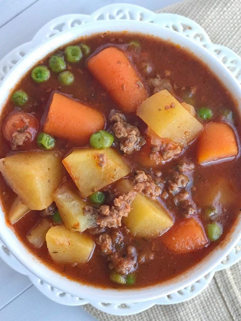 Hamburg Stew Recipe  crockpot ground beef stew