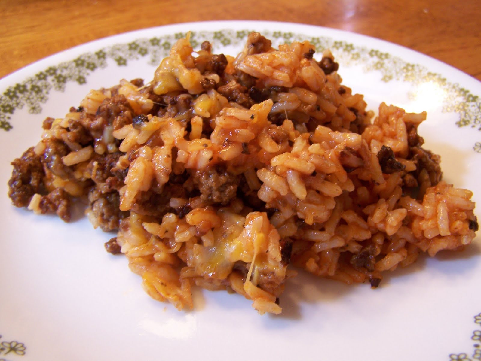 Hamburger Rice Casserole  Tried and True cooking with Heidi Hamburger Rice Skillet