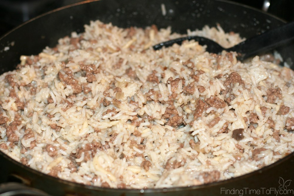 Hamburger Rice Casserole  Hamburger Rice Casserole Finding Time To Fly