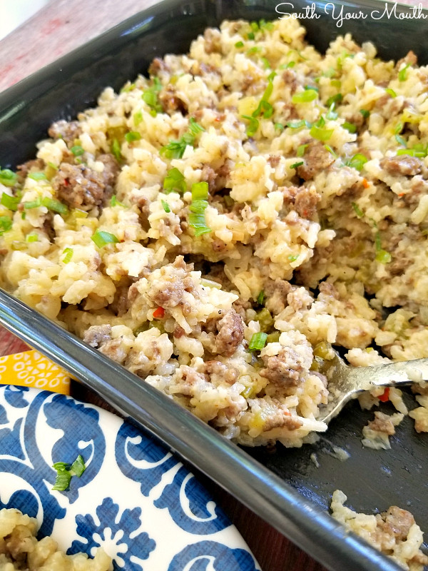 Hamburger Rice Casserole  South Your Mouth Hamburger & Rice Casserole
