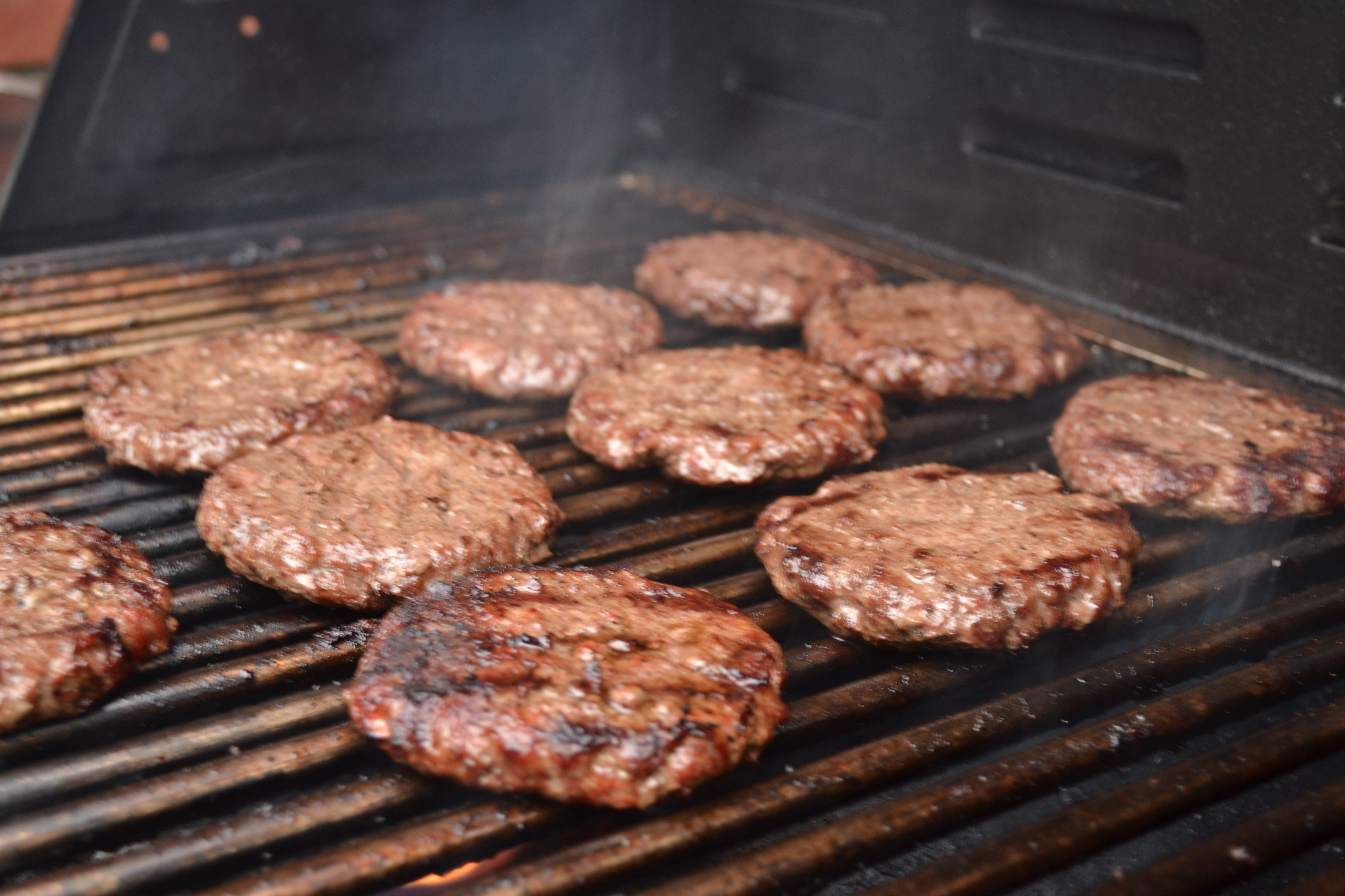 Hamburgers On The Grill  Grilled Hamburgers