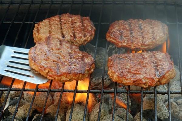 Hamburgers On The Grill  Grilling Hamburgers