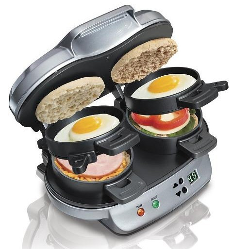 Hamilton Beach Breakfast Sandwich Maker Recipes  Hamilton Beach Dual Breakfast Sandwich Maker ly $39 99