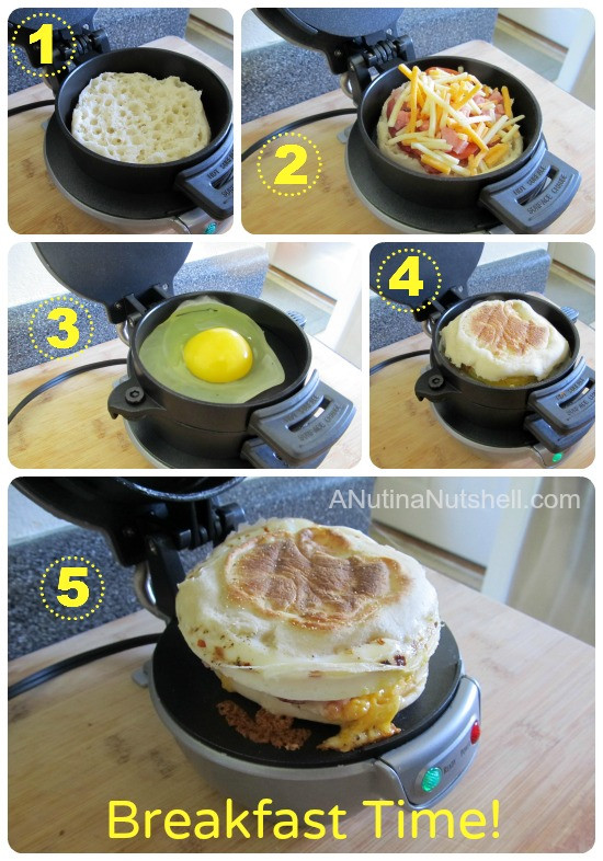 Hamilton Beach Breakfast Sandwich Maker Recipes  Breakfast Sandwiches You ll Love Giveaway Eat Move Make