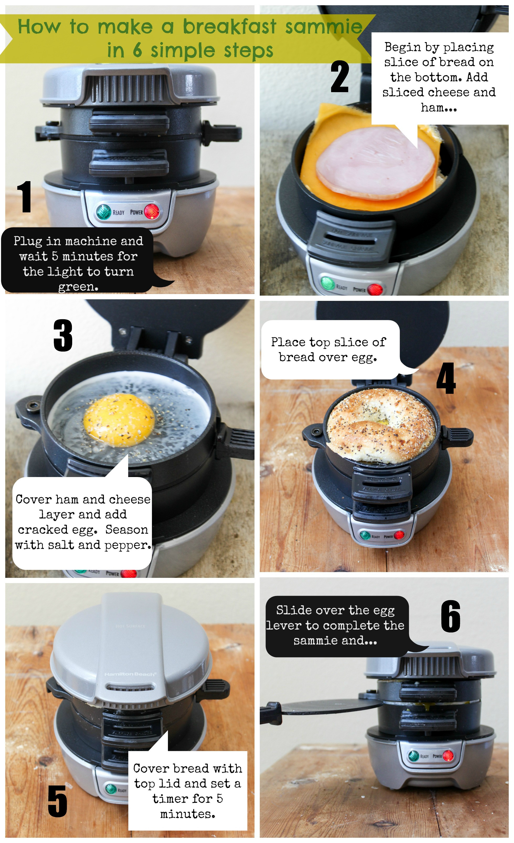 Hamilton Beach Breakfast Sandwich Maker Recipes  My First Giveaway Hamilton Beach Breakfast Sandwich Maker