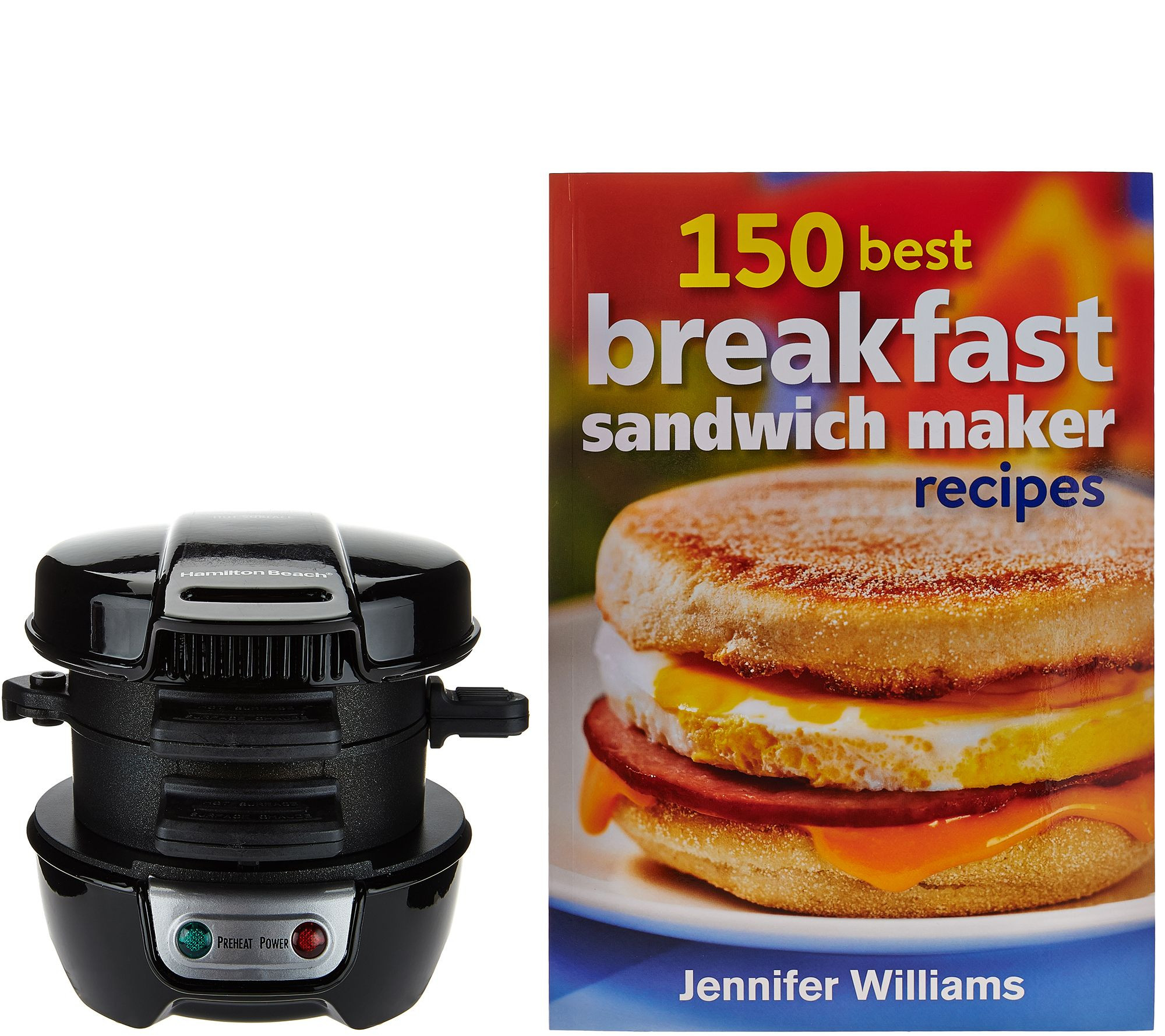 Hamilton Beach Breakfast Sandwich Maker Recipes  Hamilton Beach Breakfast Sandwich Maker w Recipe Book
