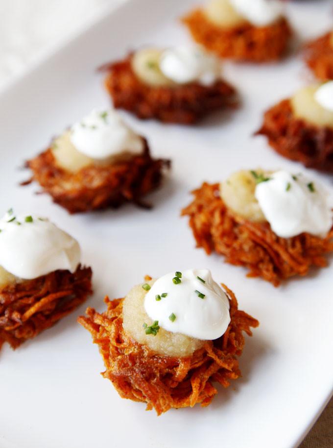 Hanukkah Potato Latkes  Spiced Sweet Potato Latkes