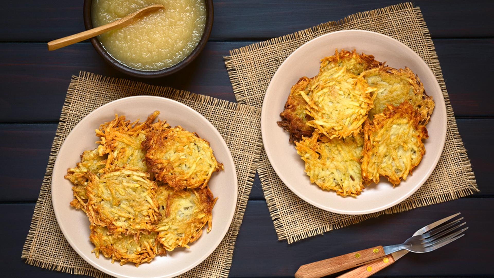 Hanukkah Potato Latkes  Crispy Hanukkah Potato Pancakes Latkes TODAY