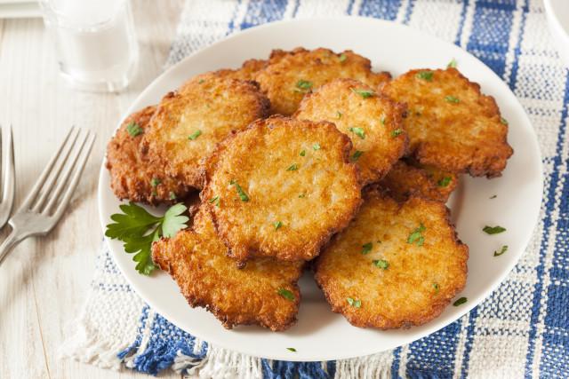 Hanukkah Potato Latkes  Parsnip Sweet Potato Latkes