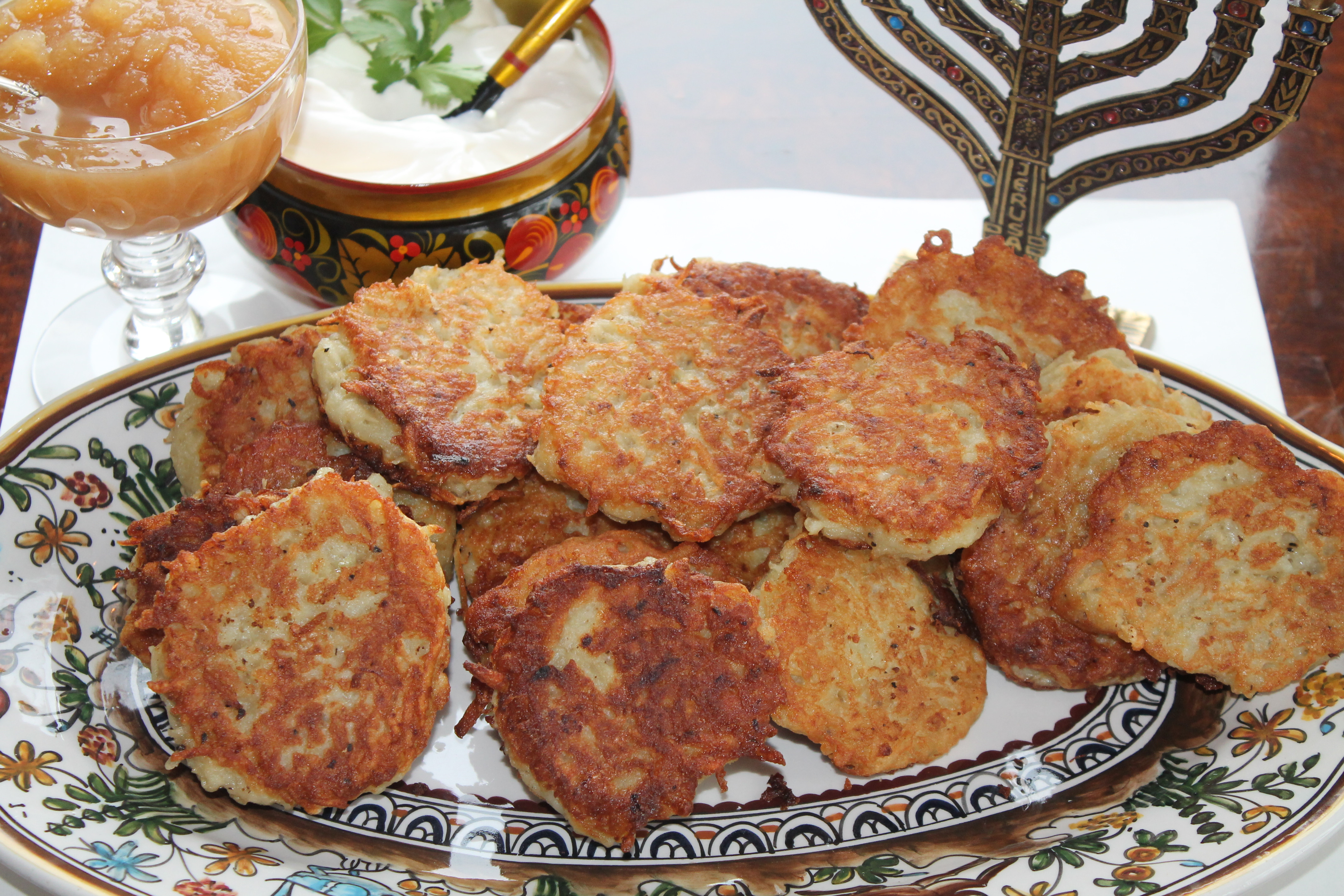 Hanukkah Potato Latkes  Potato Latkes for Hanukkah with Pat Goodman Spiced Peach