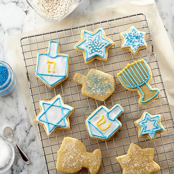 Hanukkah Sugar Cookies  Hanukkah Cut Out Cookies Recipe