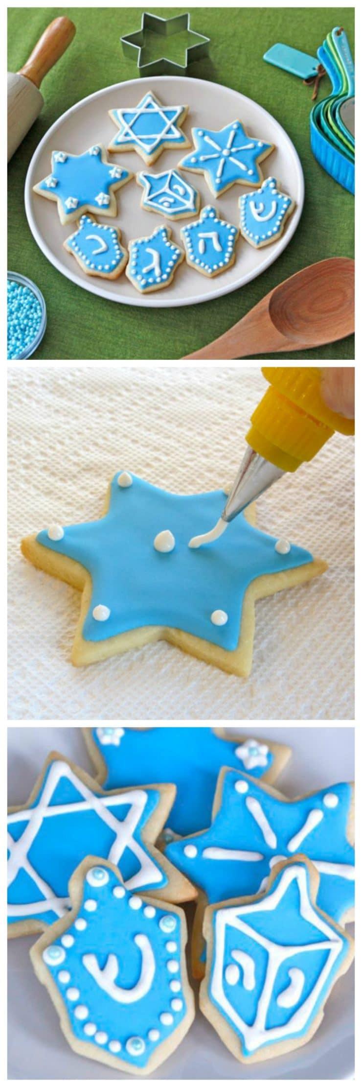 Hanukkah Sugar Cookies  Hanukkah Holiday Sugar Cookies Decorate with Royal Icing