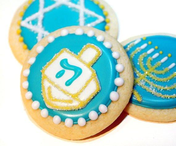 Hanukkah Sugar Cookies  Hanukkah Sugar Cookies Bat Mitzvah Favors Bar Mitzvah