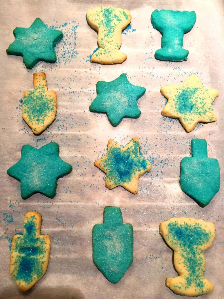 Hanukkah Sugar Cookies  Hanukkah Cutout Sugar Cookies Recipe – Melanie Cooks