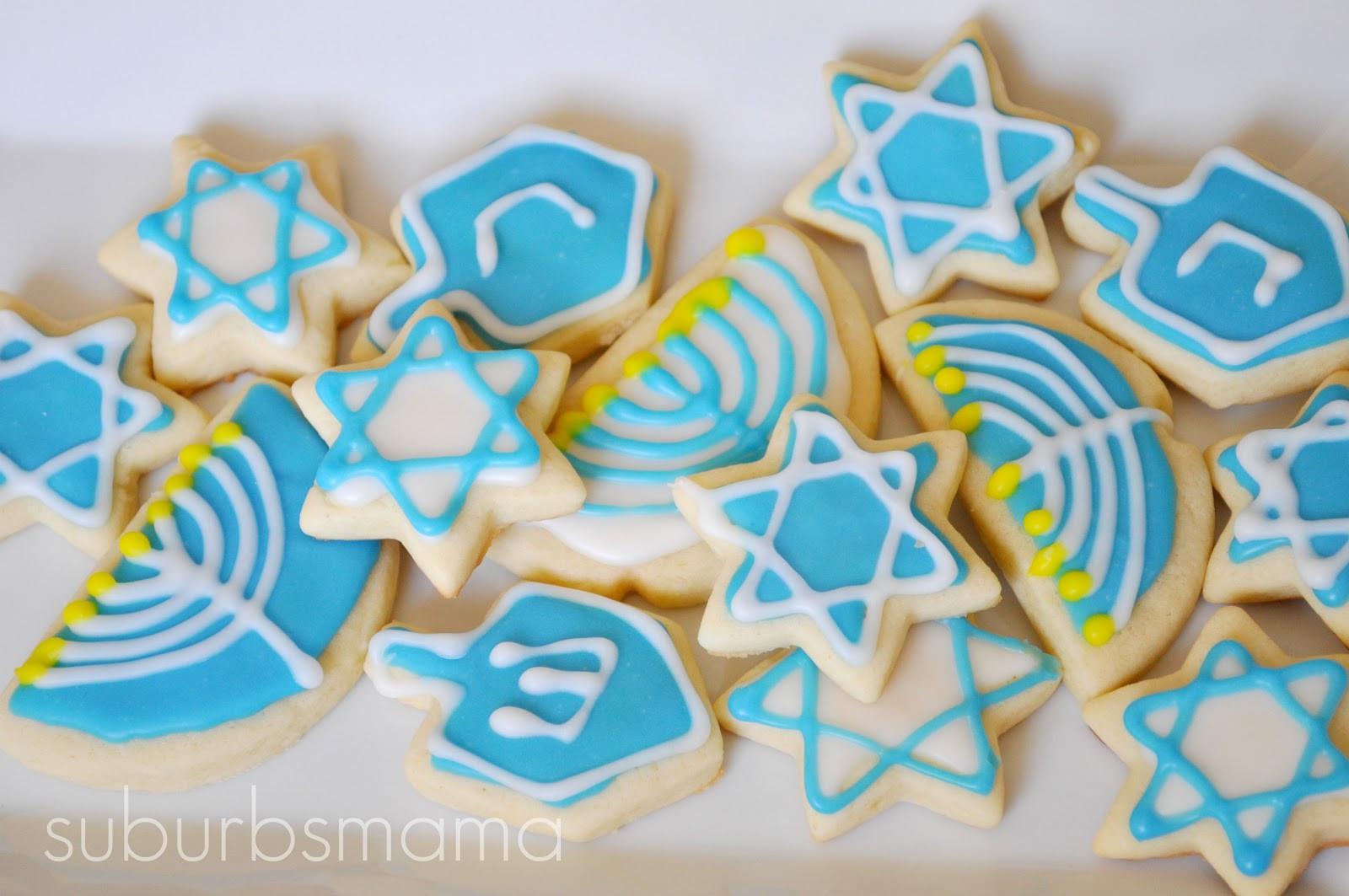 Hanukkah Sugar Cookies  Suburbs Mama Iced Sugar Cookies