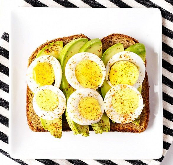 Hard Boiled Eggs Breakfast  6 Breakfast Toast Recipes to Keep You Full Until Lunchtime