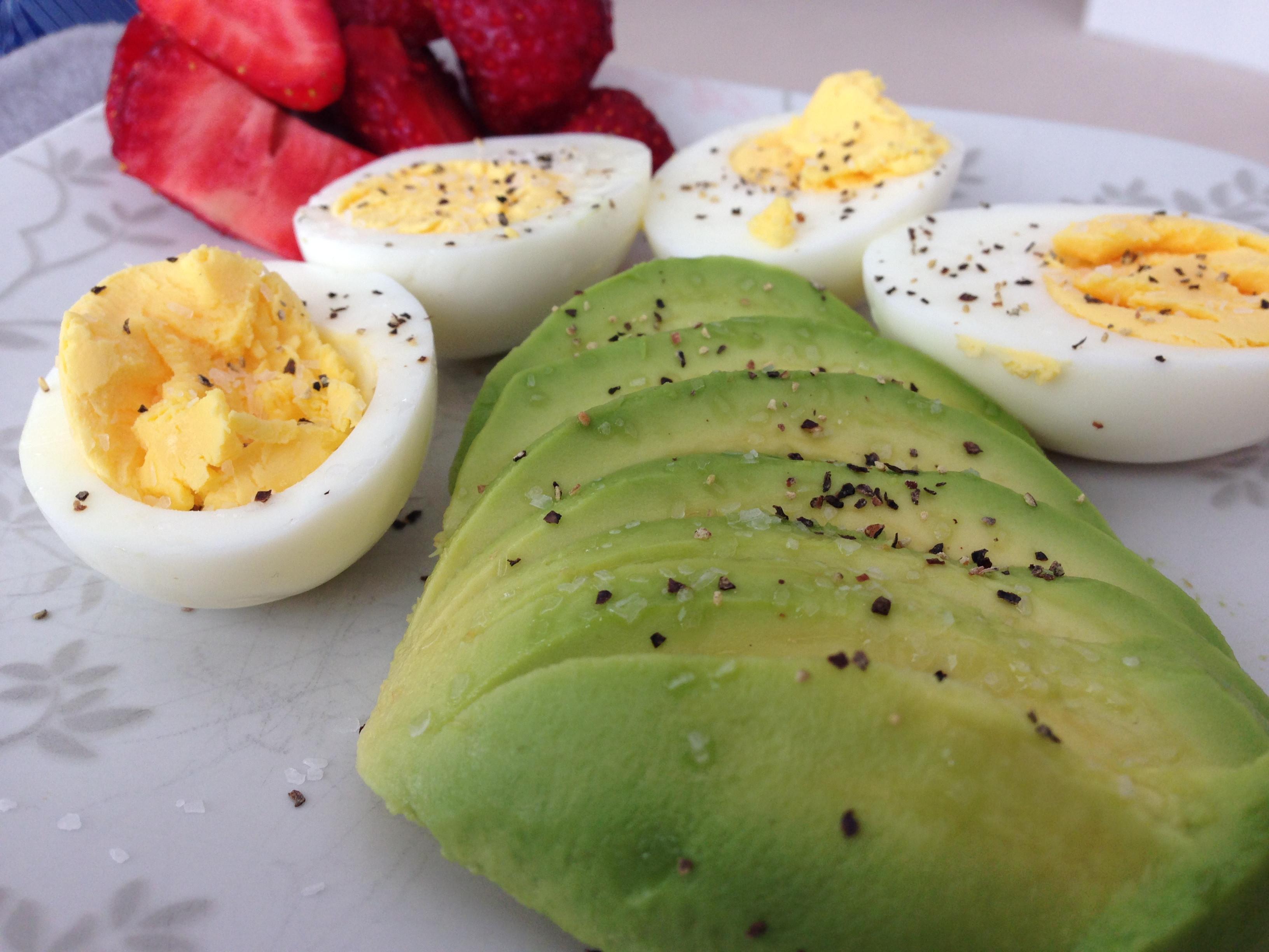 "Hard Boiled Eggs Breakfast  My first ""30"" Jess"