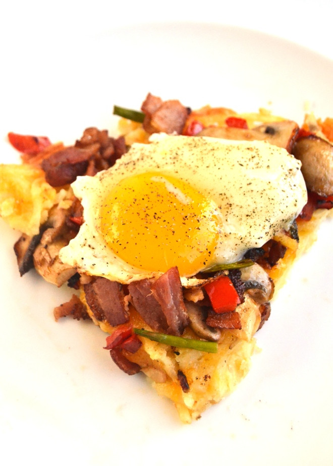 Hash Brown Breakfast Pizza  Breakfast Pizza with Hash Brown Crust