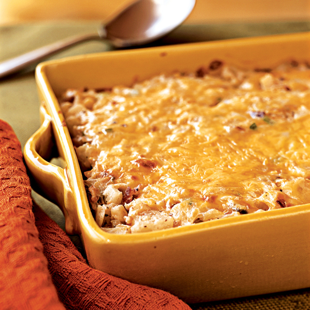Hashbrown Breakfast Casserole Recipe  Hash Brown Casserole with Bacon ions & Cheese Recipe