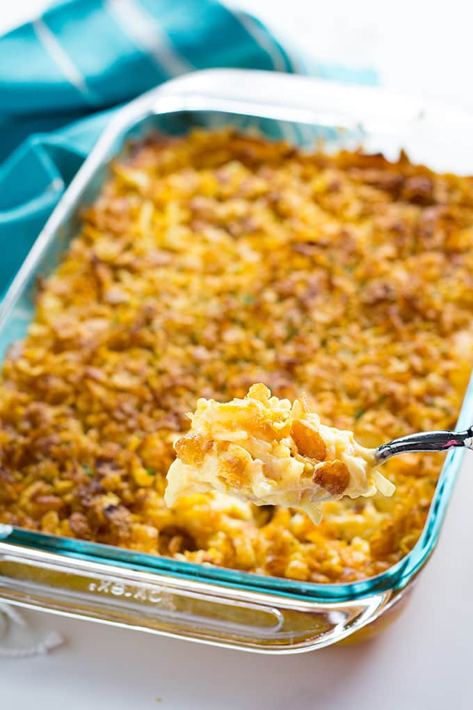 Hashbrown Potato Casserole  Cheesy Hashbrown Casserole The Salty Marshmallow