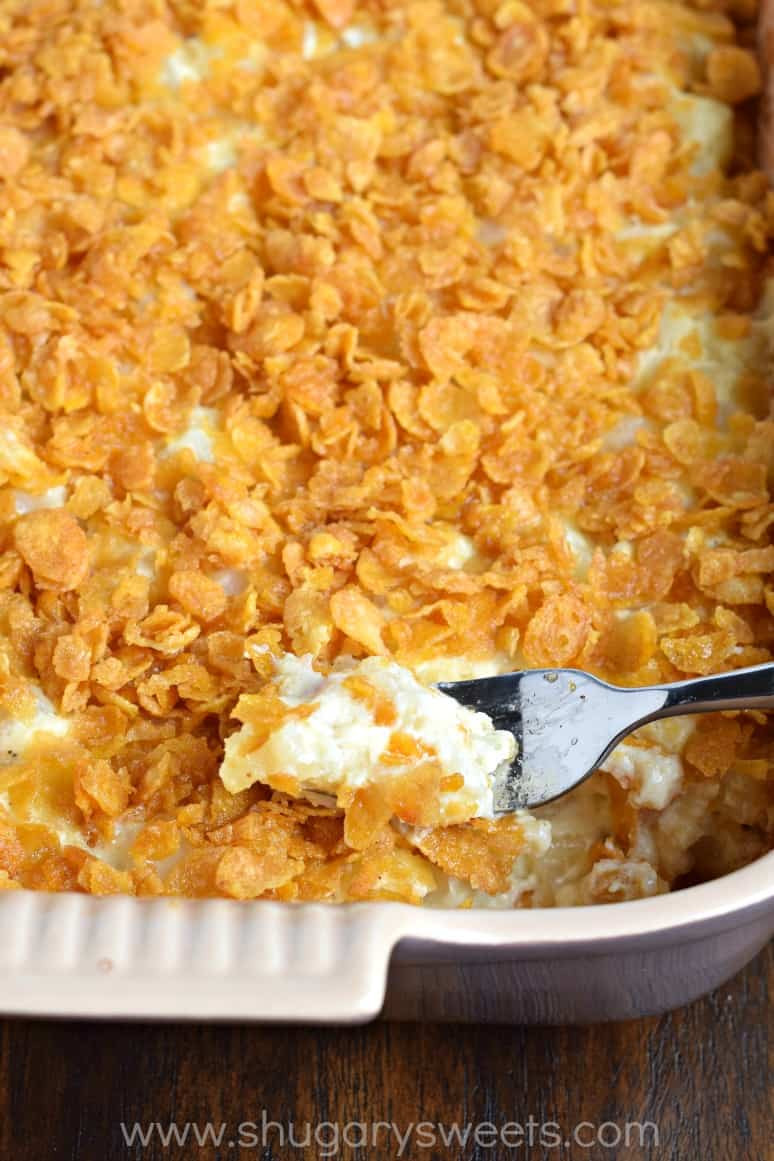 Hashbrown Potato Casserole  Cheesy Hashbrown Casserole Shugary Sweets