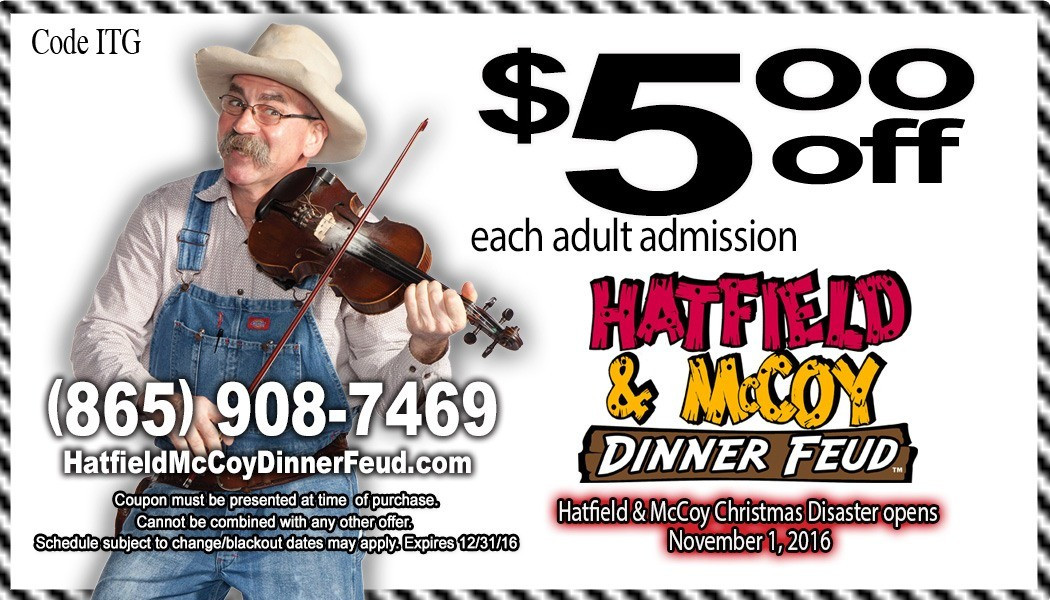 Hatfield And Mccoy Dinner Show Coupons  Hatfield and McCoy Dinner Show Coupons and Discount