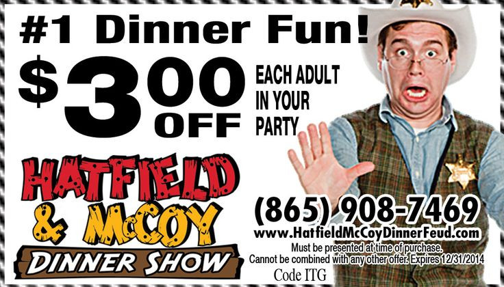 Hatfield And Mccoy Dinner Show Coupons  1000 images about Pigeon Forge Coupons on Pinterest