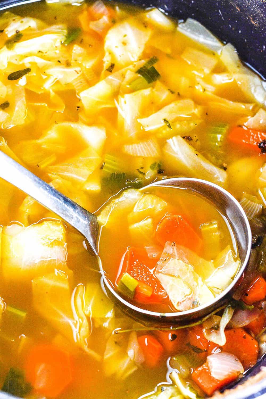 Healing Cabbage Soup  Vegan Cabbage Soup Recipe Healthier Steps