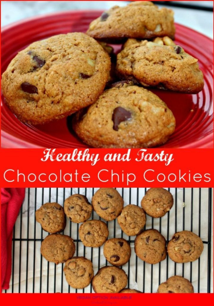 Healthier Chocolate Chip Cookies  Healthy Chocolate Chip Cookies Christmascookies Simple