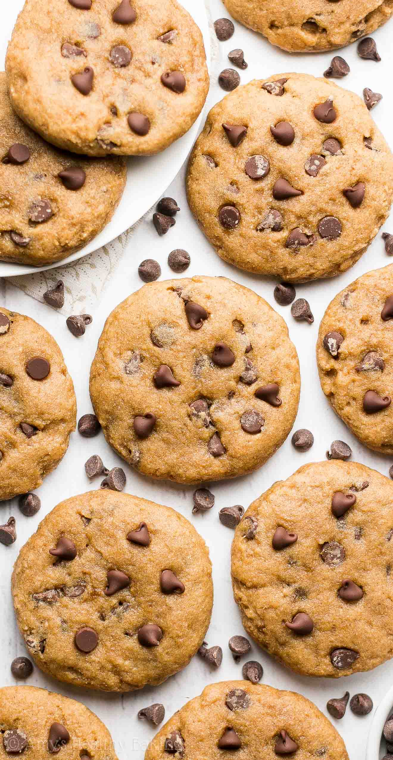 Healthier Chocolate Chip Cookies  healthy recipes chocolate chip cookies