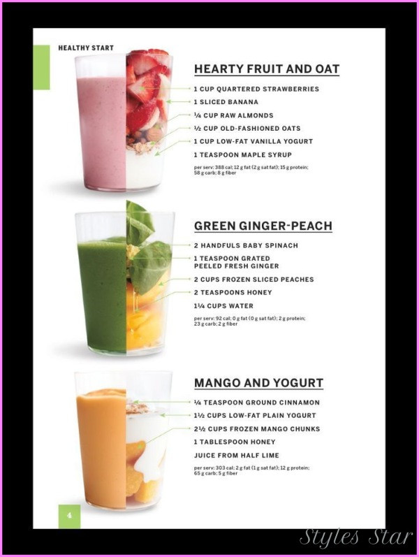 Healthiest Smoothie Recipes  Healthy Smoothie Recipes To Lose Weight