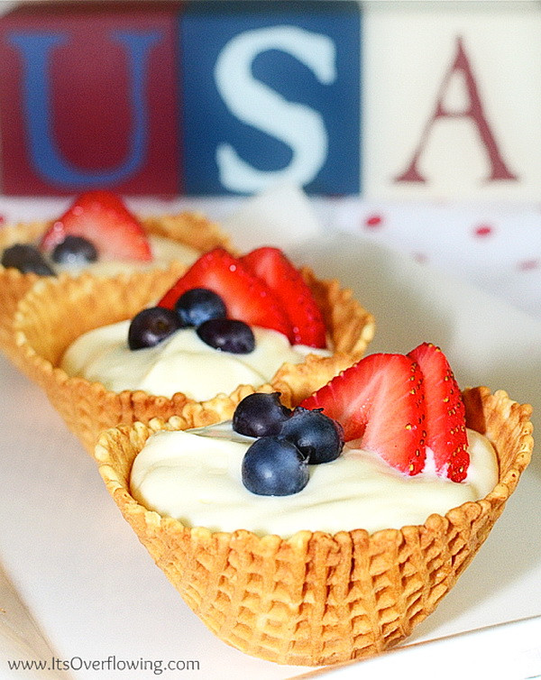 Healthy 4Th Of July Desserts  Patriotic Cheesecake In Waffle Bowl – Best Fast Healthy