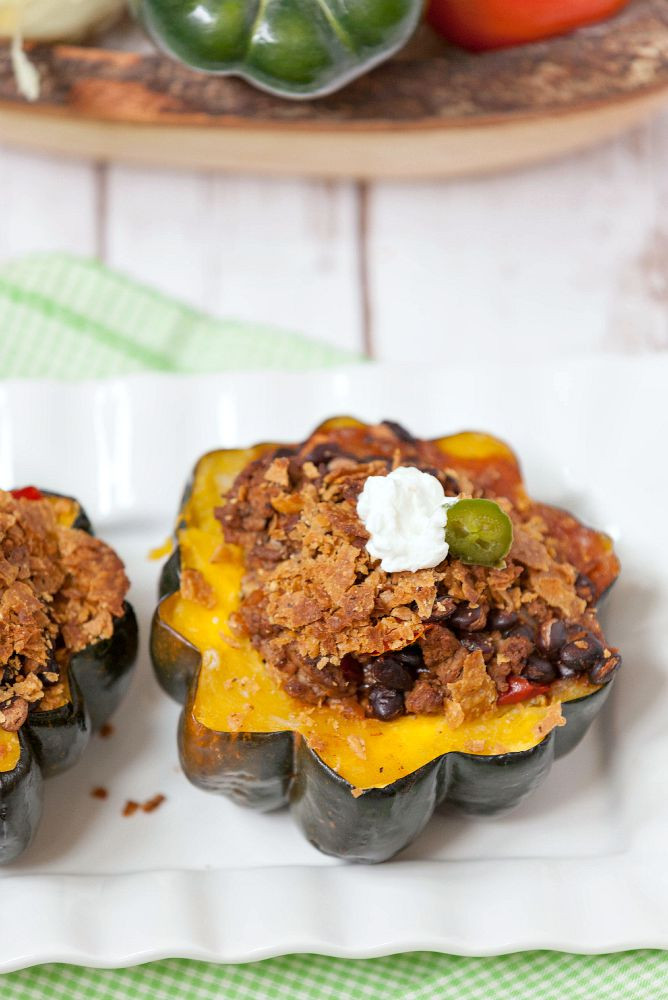 Healthy Acorn Squash Recipes  Beef and Bean Enchilada Stuffed Squash WeekdaySupper