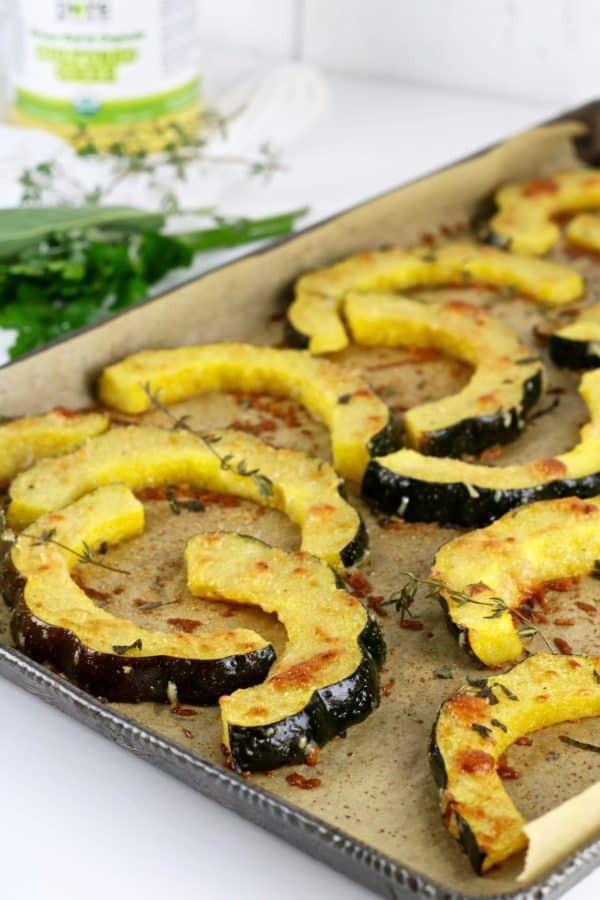 Healthy Acorn Squash Recipes  Herb Roasted Parmesan Acorn Squash The Real Food Dietitians