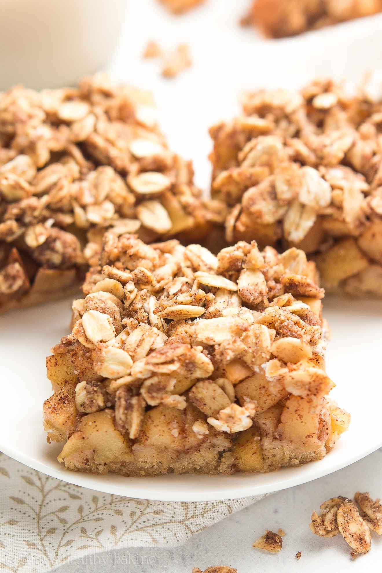 Healthy Apple Recipes  healthy apple bars