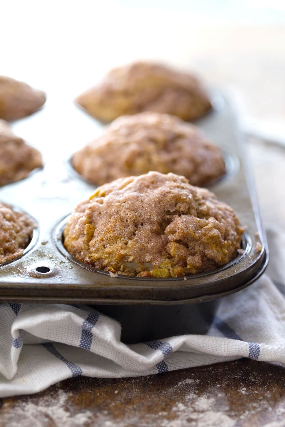 Healthy Apple Recipes  Healthy Cinnamon Sugar Apple Muffins Recipe Pinch of Yum