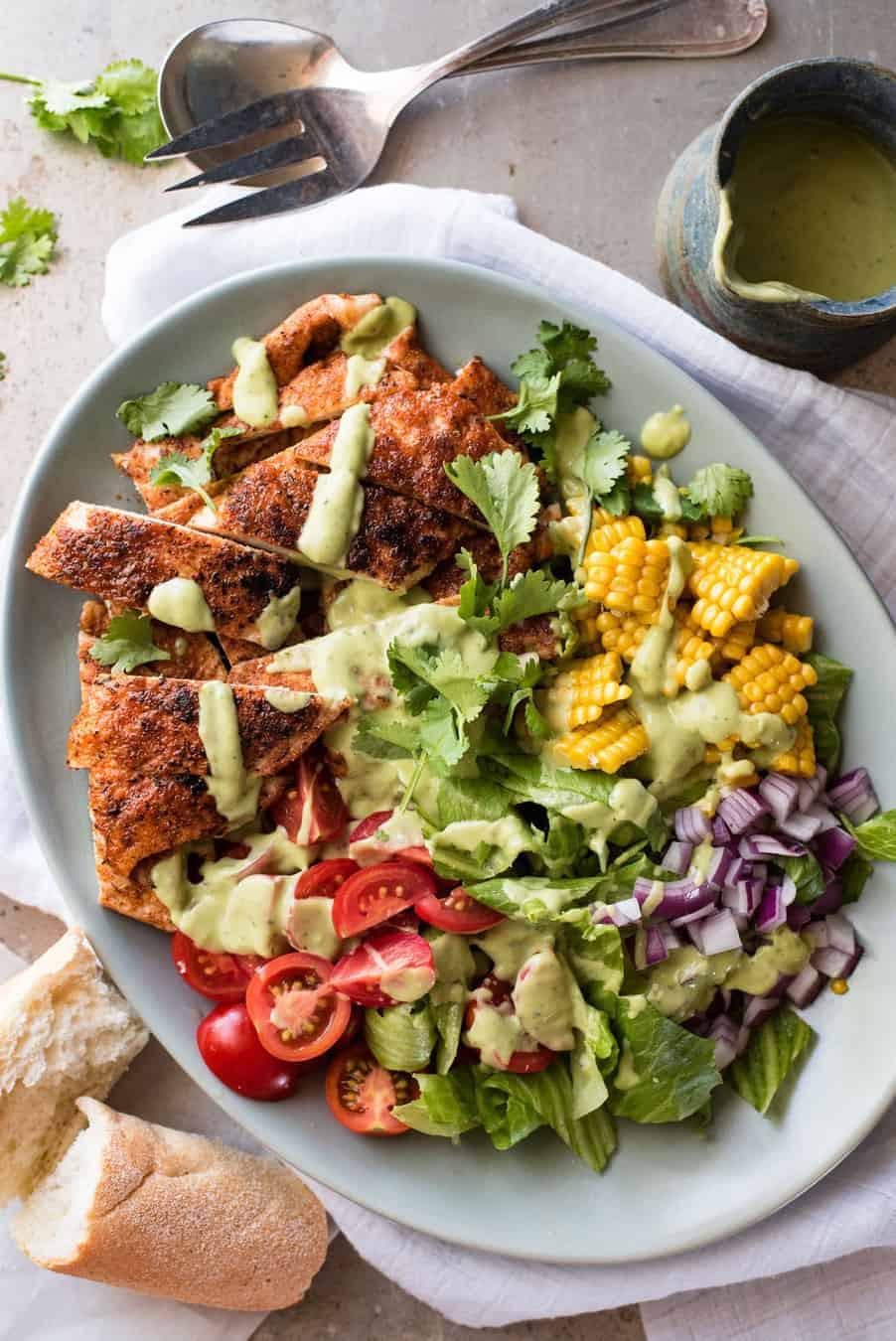 Healthy Avocado Recipes  Chicken Salad with Avocado Dressing