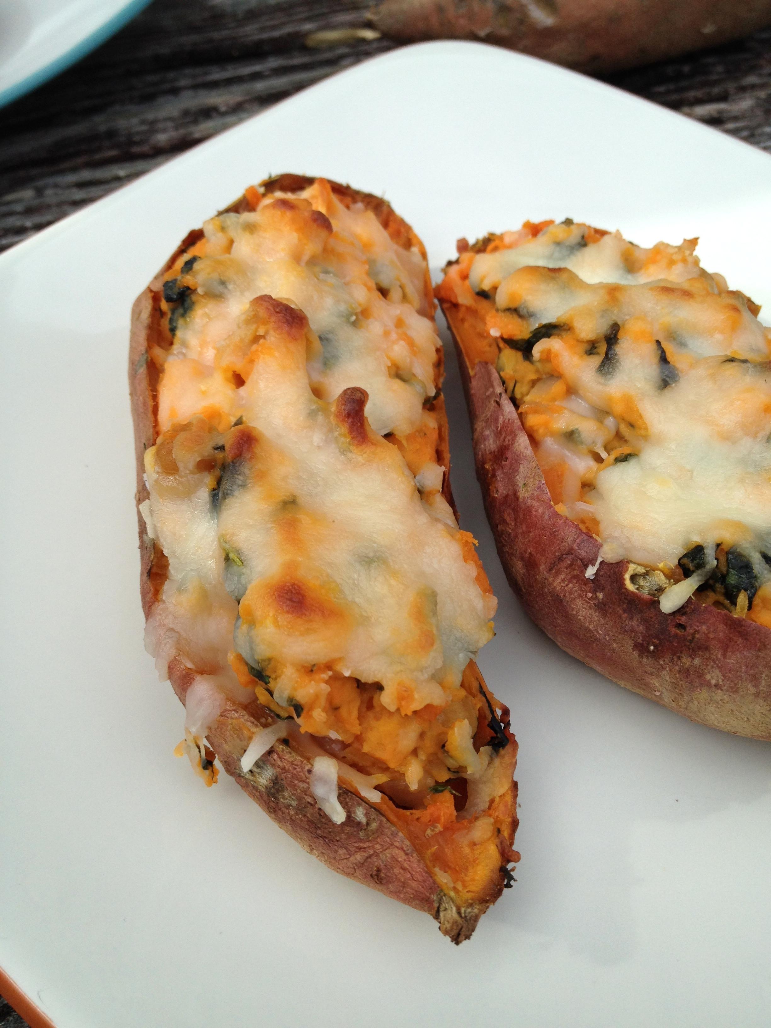 Healthy Baked Potato  healthy twice baked sweet potatoes