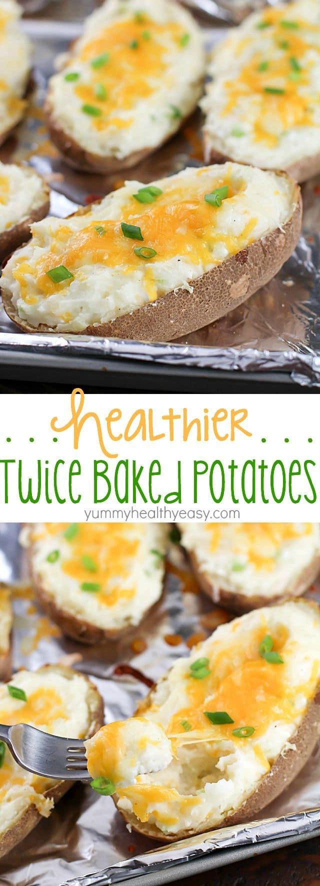 Healthy Baked Potato  Healthy Twice Baked Potatoes Yummy Healthy Easy