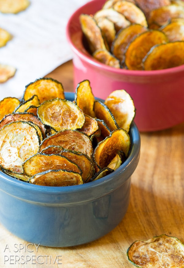 Healthy Baked Snacks  Baked Zucchini Chips A Spicy Perspective