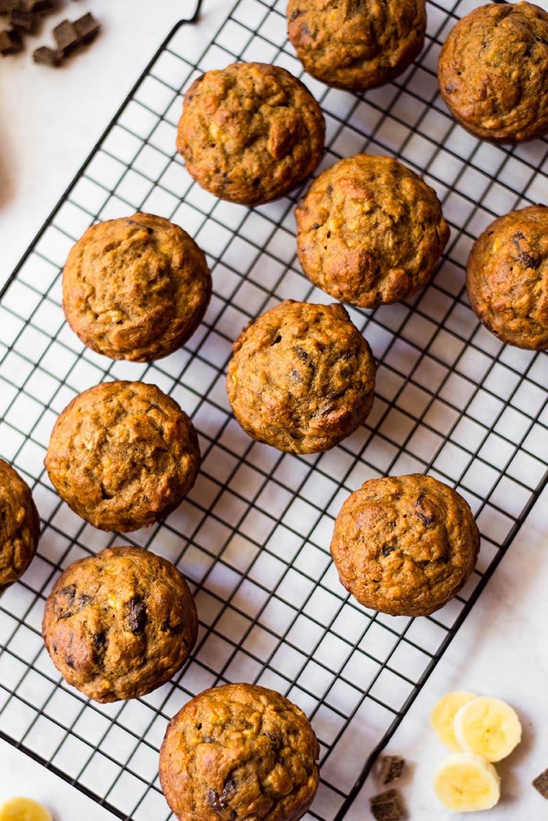 Healthy Banana Chocolate Chip Muffins  Healthy Banana Chocolate Chip Muffins • A Sweet Pea Chef