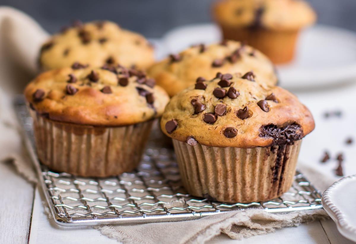 Healthy Banana Chocolate Chip Muffins  Healthy Banana Chocolate Chip Muffins Gluten Free