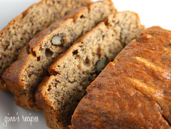 Healthy Banana Nut Bread  Low Fat Banana Nut Bread