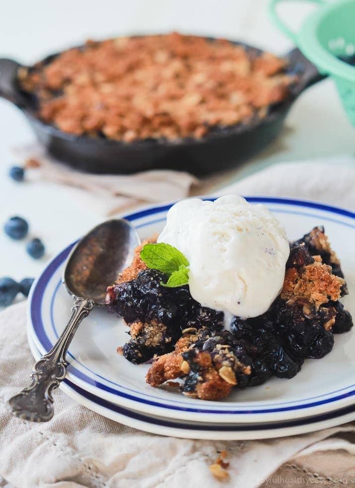 Healthy Blueberry Desserts  Ginger Blueberry Crisp Recipe