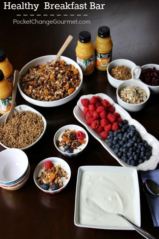 Healthy Breakfast Bar  Great Food Bar Ideas