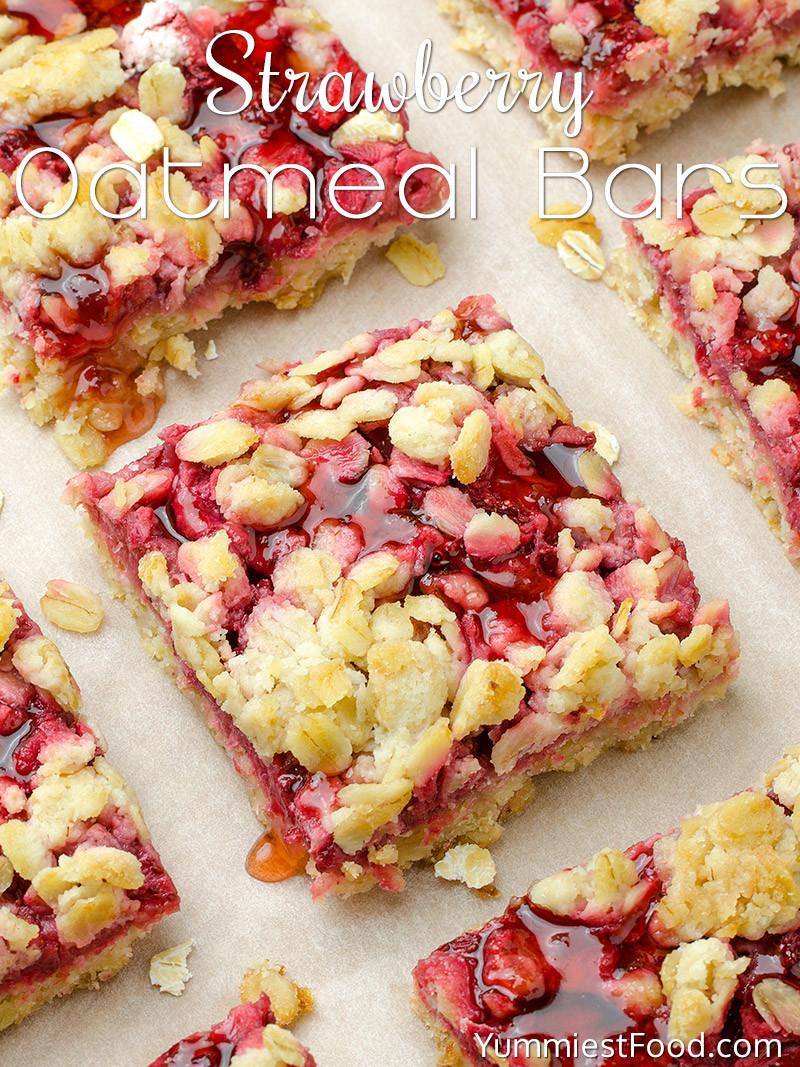Healthy Breakfast Bar  Healthy Breakfast Strawberry Oatmeal Bars Recipe from