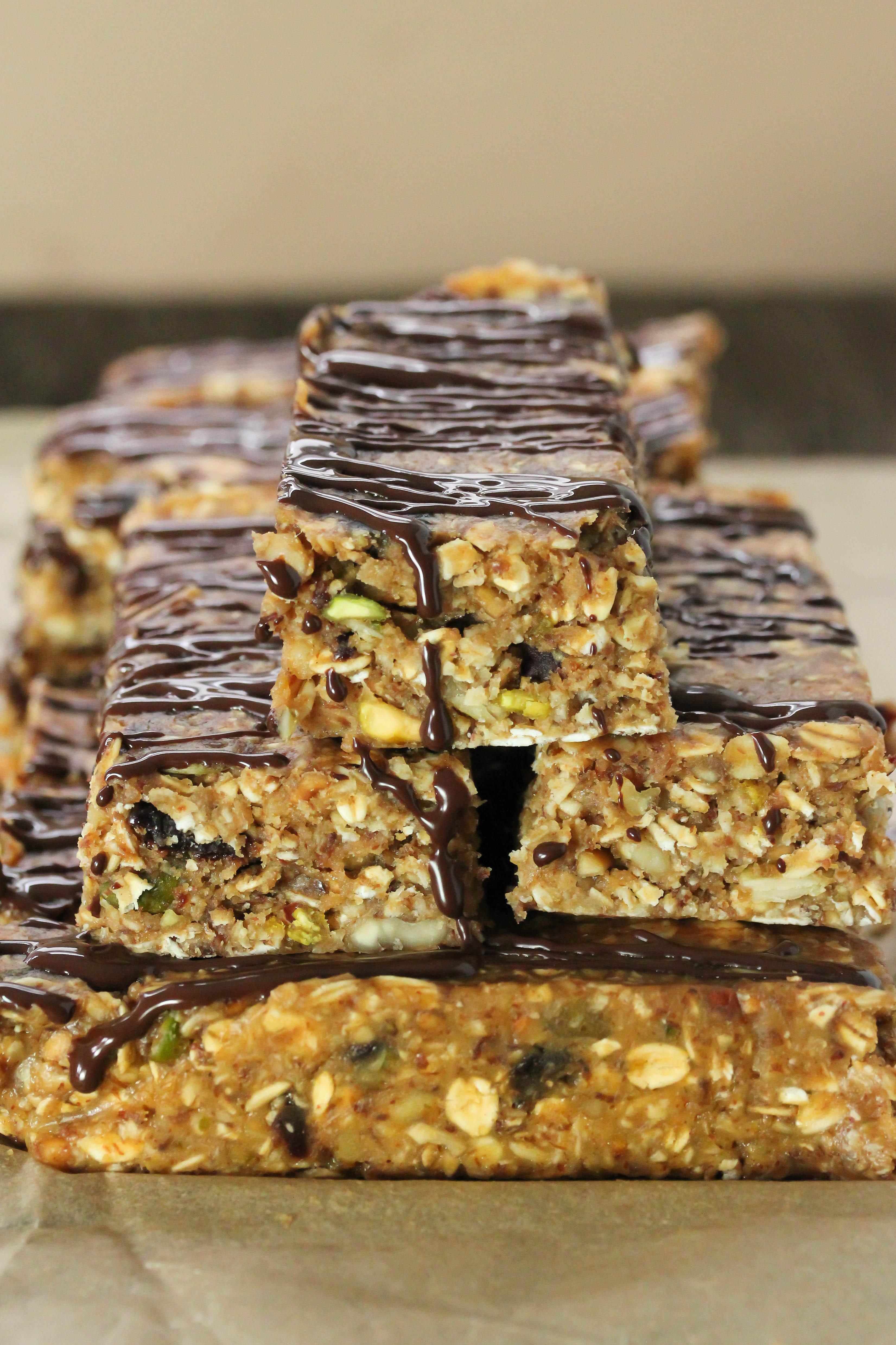 Healthy Breakfast Bar  No bake breakfast bars Gluten free vegan