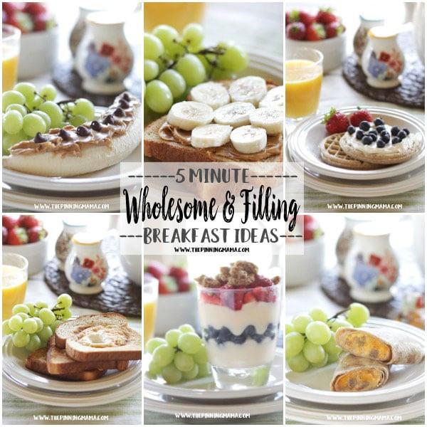 Healthy Breakfast For Kids Before School  6 Easy & Filling 5 Minute Breakfasts for Busy Mornings