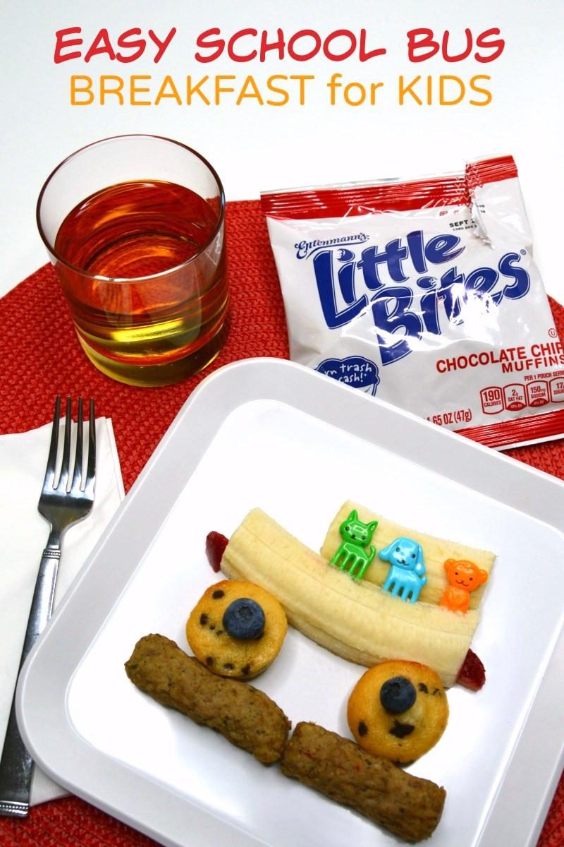 Healthy Breakfast For Kids Before School  A Kids Bus Themed Before School Breakfast